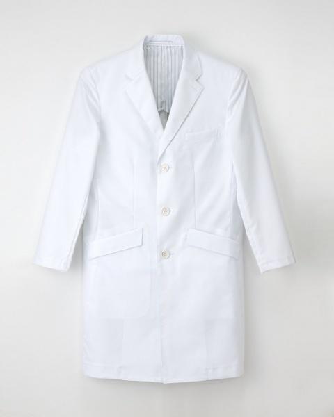【エステ・歯科・病院ユニフォーム】形態安定性の機能付き シングルドクターコート【1色】男性用