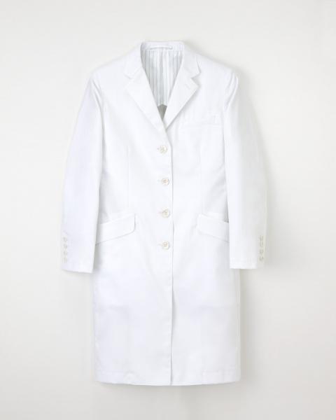 【エステ・歯科・病院ユニフォーム】形態安定性の機能付き シングルドクターコート【1色】女性用