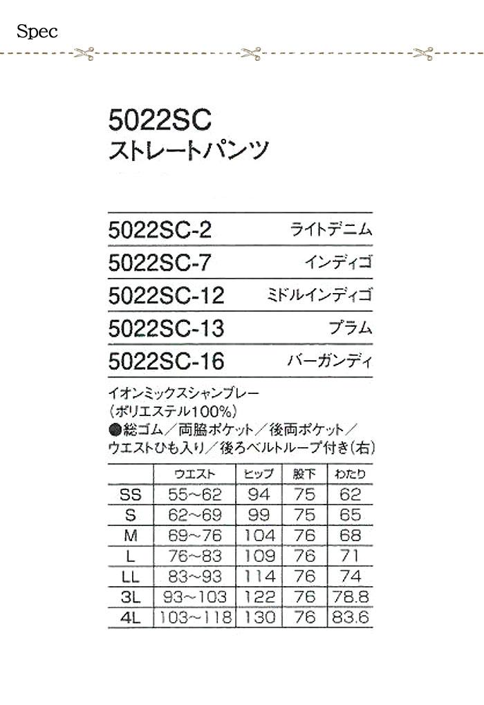 5022SC スクラブ