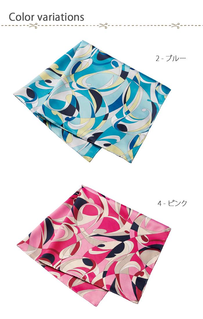 8075華やか花柄スカーフ 長方形タイプ 色展開説明
