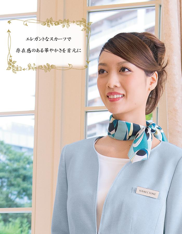 8075華やか花柄スカーフ 長方形タイプ 商品イメージ説明