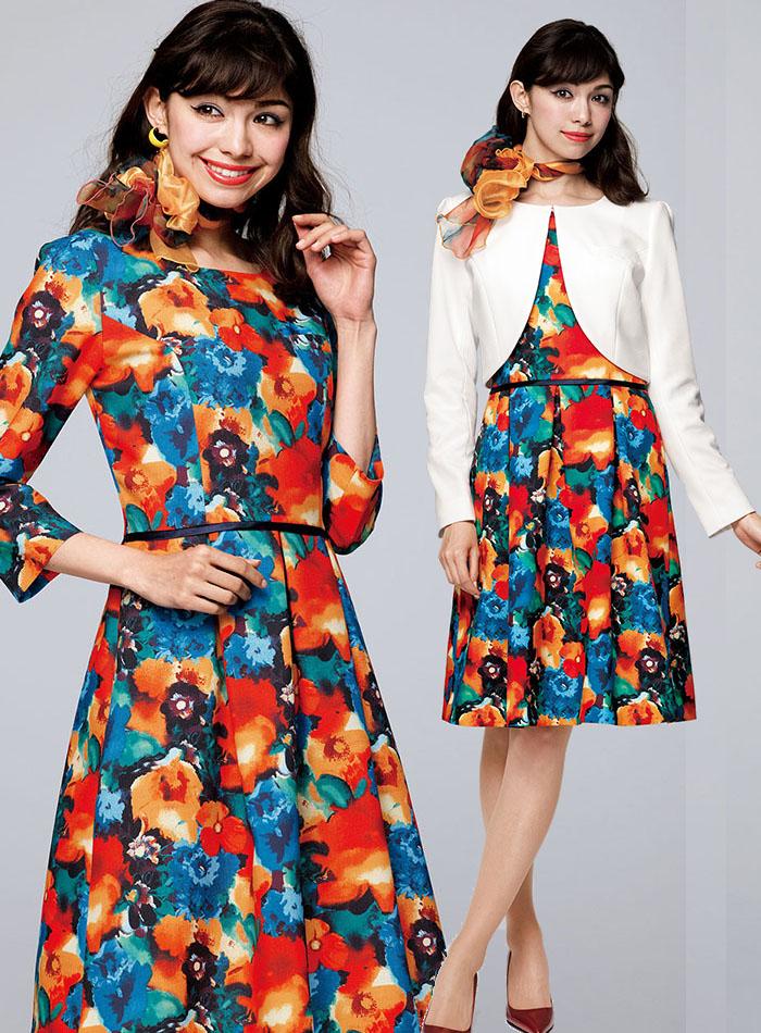 BCA9103 笑顔彩るスカーフ モデルコーディネート画像1