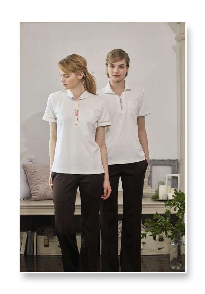 LW203 ニットシャツ モデル画像