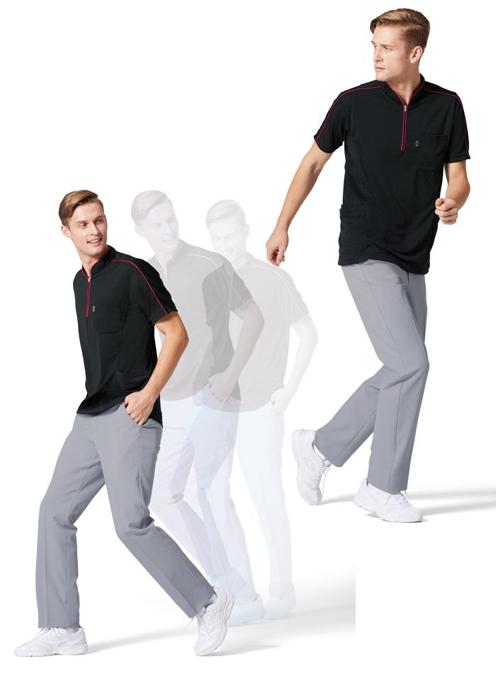 MZ0170 ニットシャツ モデル画像